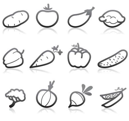 rzepa: Żywności ikony (roślinny) - Część 2 Ilustracja
