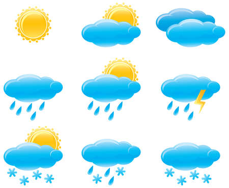 partly: Day weather icons Illustration
