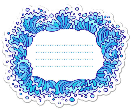 Doodle frame with stylized waves Stock Vector - 7269482