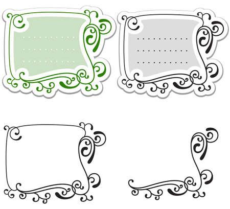 rectangle patterns: Set of floral frames