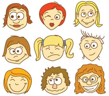 Faces icons. Part 2 - female avatars. Stock Vector - 7269440