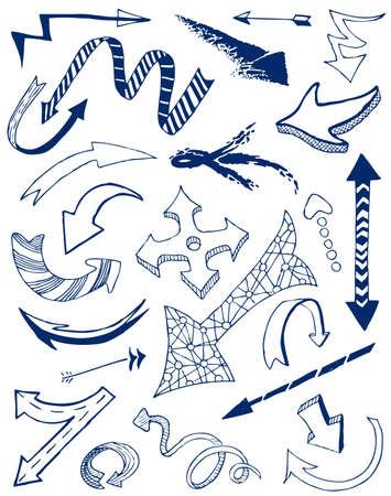 Arrows doodles set. Illustration