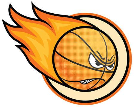 Bal�n de baloncesto en llamas  Foto de archivo - 7269477