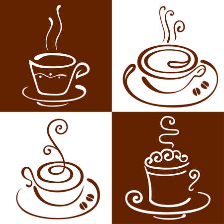 The stylised cup of coffee Vector