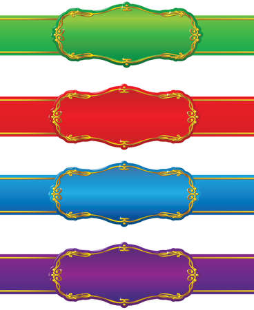 Set of design shapes and ribbons. Stock Vector - 7269468