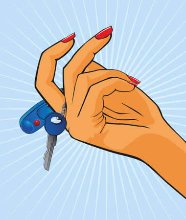 Female hand with a key Vector