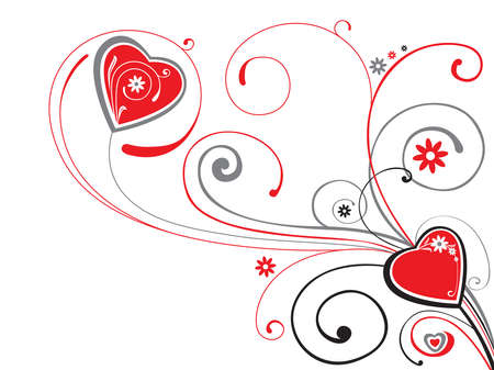valentine`s  ornament with heart Stock Vector - 7269430