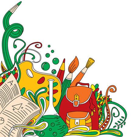 zaino scuola: Colore astratto scuola doodles
