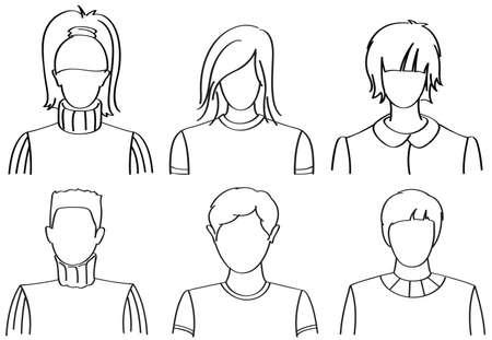 soccer: set of office people Illustration