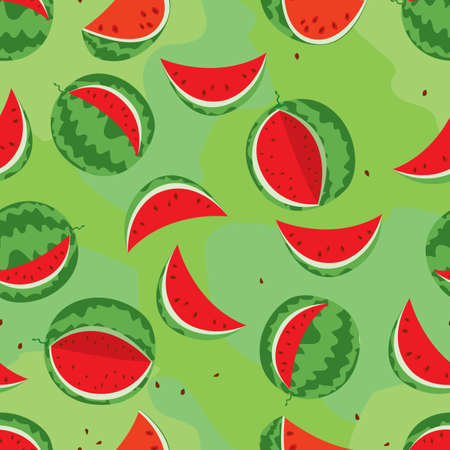 watermelon colorful seamless Vector