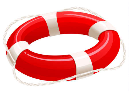 saver: Life buoy, cartoon illustration