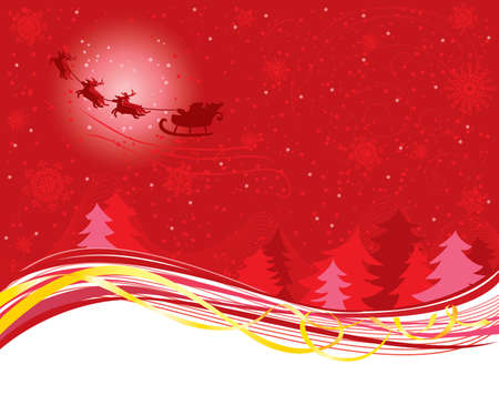 Christmas background with Santa Claus Stock Vector - 7358902