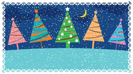 xmas party: Retro Christmas card