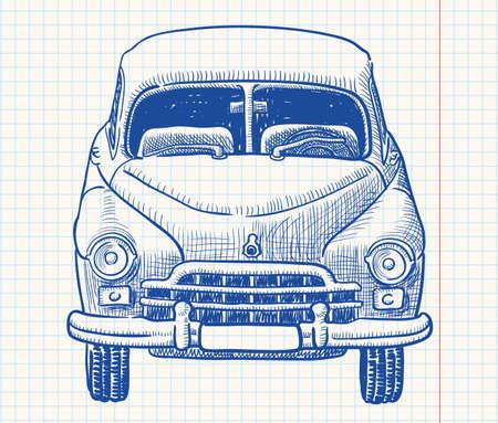 Retro soviet union car, part 1 Stock Vector - 7358953