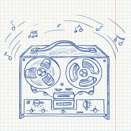 magnetofon: Retro odtwarzacz muzyczny (rejestrator taÅ›mowy)