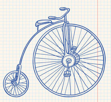 Retro-styled bicycle Stock Vector - 7358973