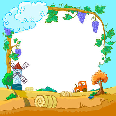 autumn season landscape Vector