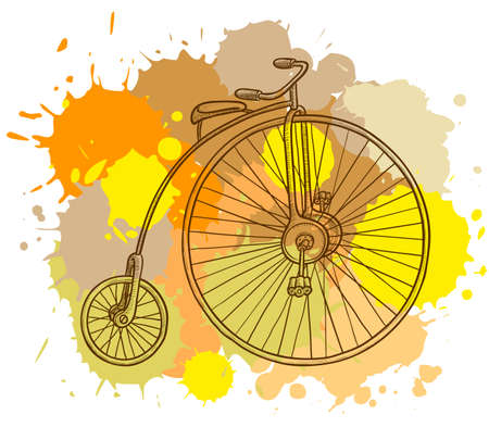 Retro-styled bicycle Stock Vector - 7553192