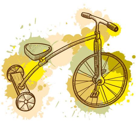 driewieler: Retro-stijl kind, driewieler