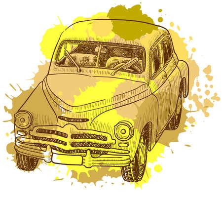 vintage grunge image: Auto retr� grunge