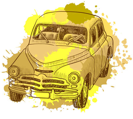 Grunge retro car