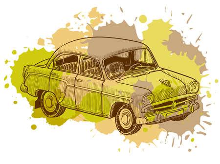 Grunge vintage car