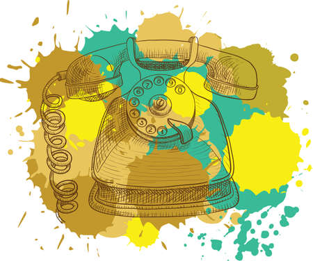 Grunge vintage telephone Stock Vector - 7553201