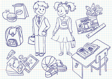 Education ( school) doodles set Vector