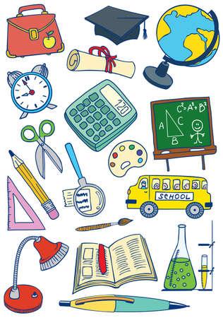School (education) set Illustration