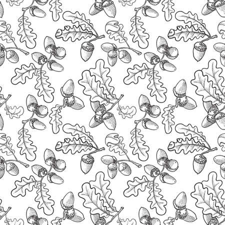 Seamless pattern with acorns Stock Vector - 7623439