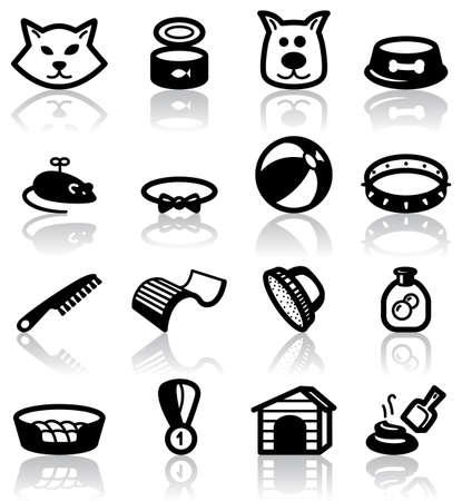 veterinarian symbol: Set di animali animali (interno)  Vettoriali