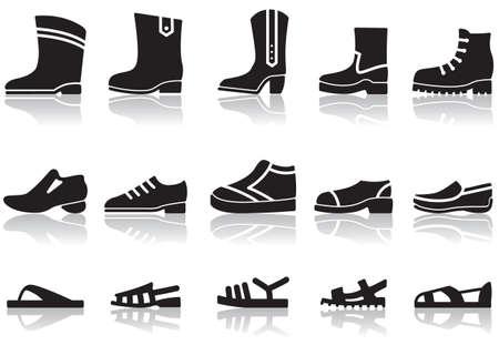 nude mann: Satz von Ikonen der M�nner Schuhe