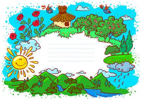 Cute summer frame (color version)