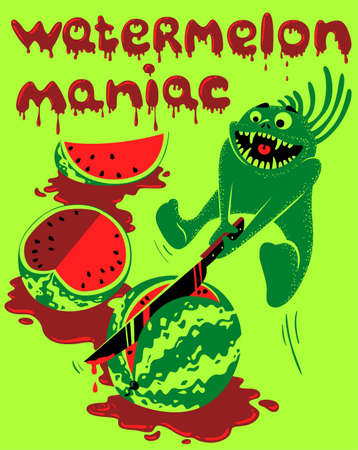 Watermelon monster Stock Vector - 9455678