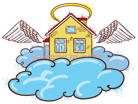Angel house (color version) Stock Vector - 9931667