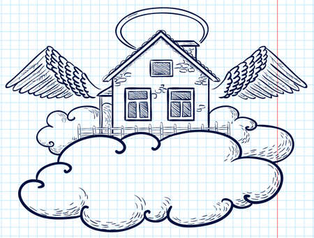 Angel house (doodle version) Stock Vector - 9931670