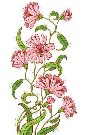 pencil plant: Doodle floral sketchy bouquet