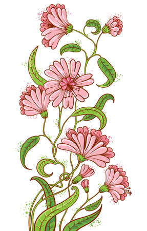 Doodle floral sketchy bouquet Stock Vector - 9931669