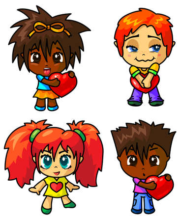 userpic: Cute chibi icons set with valentine symbol (part 1) Illustration