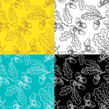Seamless pattern set with acorns Stock Vector - 12248896
