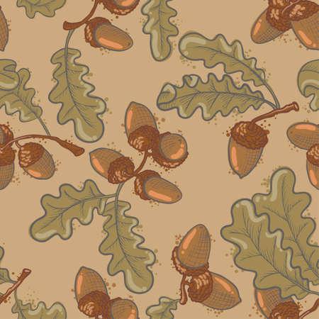 Seamless pattern set con bellotas