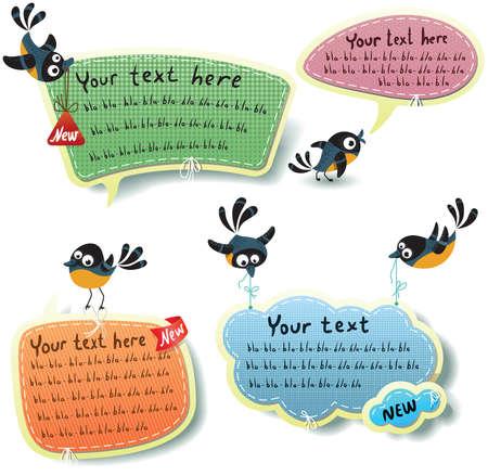 Speech bubbles templates set