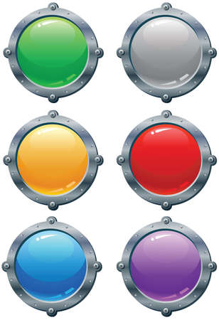 Blank Multicolored Templates for buttons and icons Stock Vector - 13057186