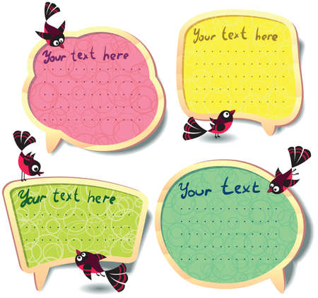 Cute Speech bubbles templates set Stock Vector - 13057192