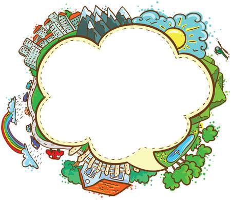 trip: Cute sketchy speech bubble