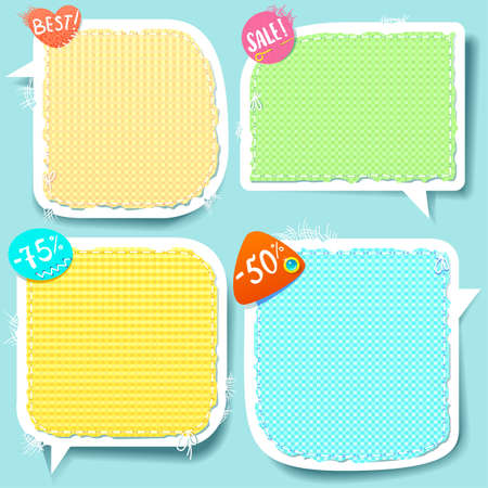 Cute Speech bubbles templates set