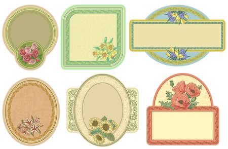 Vintage labels set illustration