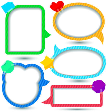 cute text box: Cute Speech bubbles templates set