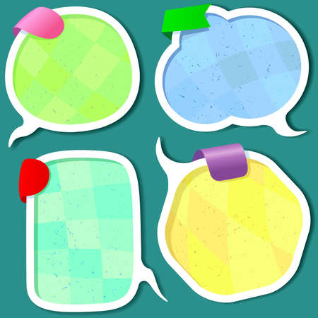 Cute Speech bubbles templates set Stock Vector - 13786393