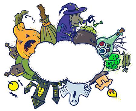Speech cloud with Halloween theme Stock Vector - 15322211